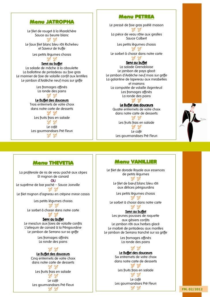 Menu PETREA         Menu JATROPHA                                    Le pressé de foie gras poêlé maison        Le filet d...