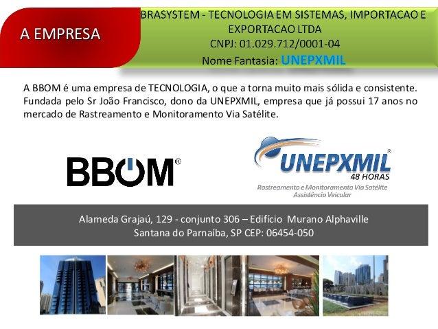 Alameda Grajaú, 129 - conjunto 306 – Edifício Murano AlphavilleSantana do Parnaíba, SP CEP: 06454-050A EMPRESAA EMPRESAA B...