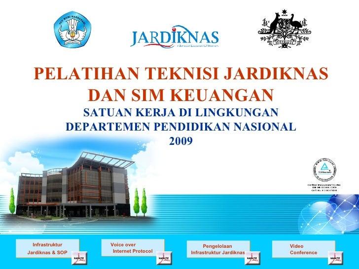 Pengelolaan  Infrastruktur Jardiknas Video  Conference Infrastruktur Jardiknas & SOP Voice over  Internet Protocol PELATIH...