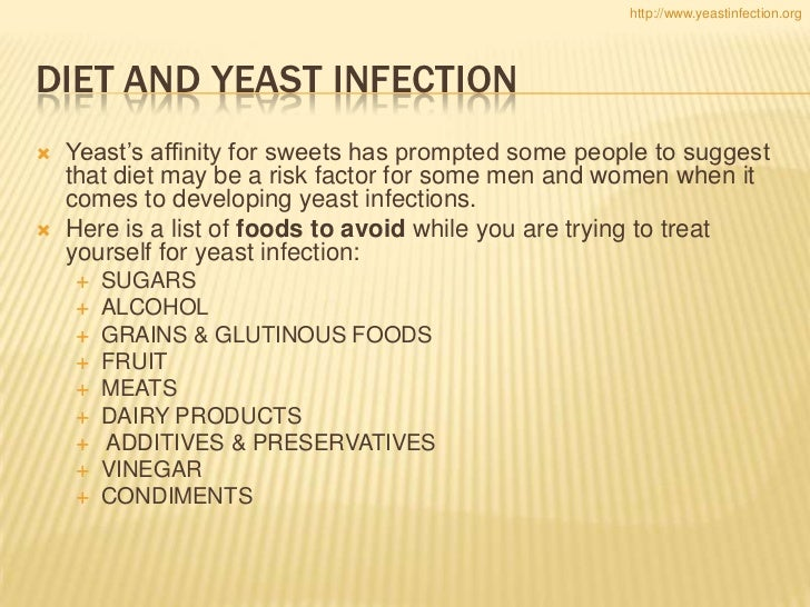 List Of Foods To Avoid With Yeast Infection