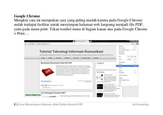 Dalam cara bentuk pdf informasi