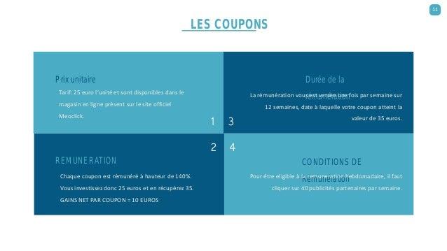 Prix unitaire Tarif: 25 euro l'unité et sont disponibles dans le magasin en ligne présent sur le site officiel Meoclick. R...