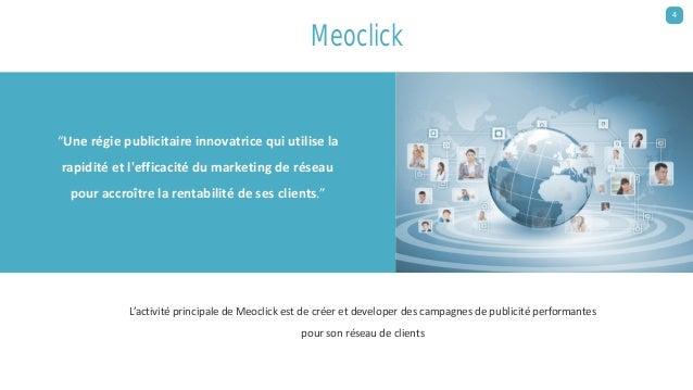 L'activité principale de Meoclick est de créer et developer des campagnes de publicité performantes pour son réseau de cli...