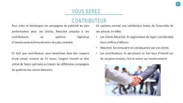 Pour créer et développer les campagnes de publicité les plus performantes pour ses clients, Meoclick propose à ses contrib...