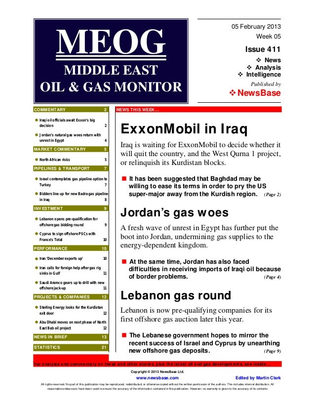 MEOG - Middle East Oil & Gas Monitor