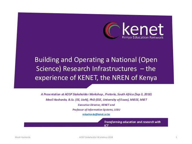 Transforming education and research with ICT Building and Operating a National (Open Science) Research Infrastructures – t...