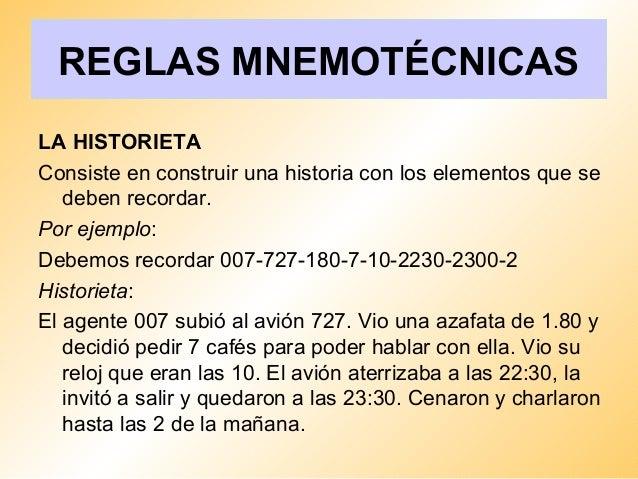 Resumen y memoria reglas mnemotcnicas 9 urtaz Choice Image