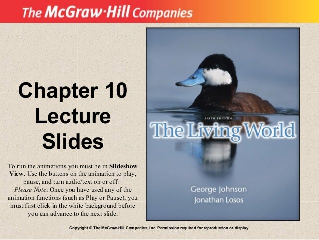 Copyright © The McGraw-Hill Companies, Inc. Permission required for reproduction or display. Chapter 10 Lecture Slides To ...
