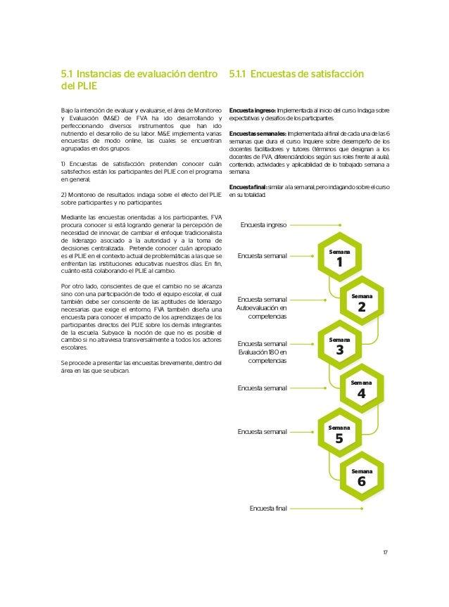 5.1 Instancias de evaluación dentro del PLIE Bajo la intención de evaluar y evaluarse, el área de Monitoreo y Evaluación (...