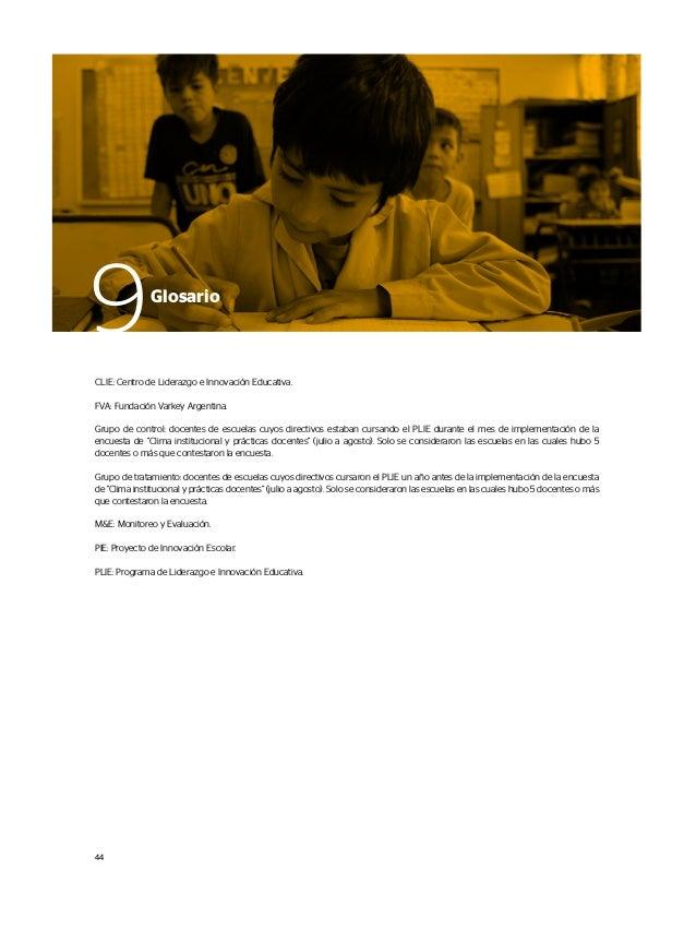 CLIE: Centro de Liderazgo e Innovación Educativa. FVA: Fundación Varkey Argentina. Grupo de control: docentes de escuelas ...