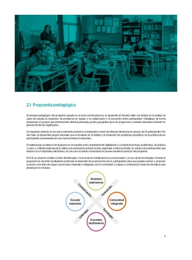 Escuela mejorada Alumnos autónomos Comunidad integrada Docentes facilitadores Com unicación Tecnología Liderazgo Innovació...