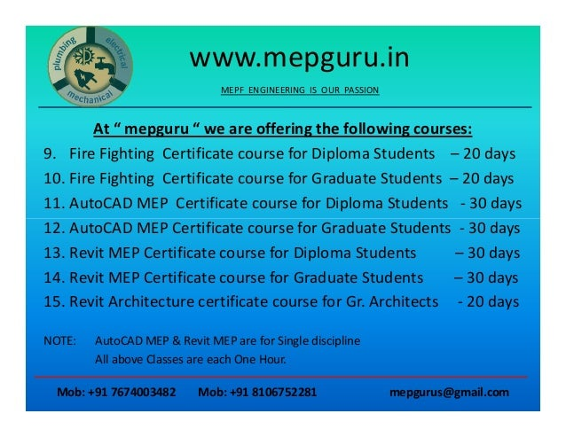 Mep importance MEP Training & Consulting Institute at AP's