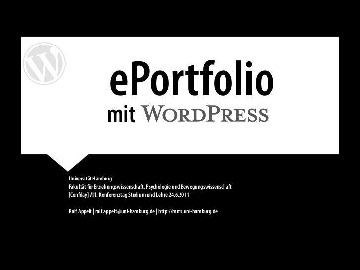 ePortfolio                 mit                                                         .Universität HamburgFakultät für Er...