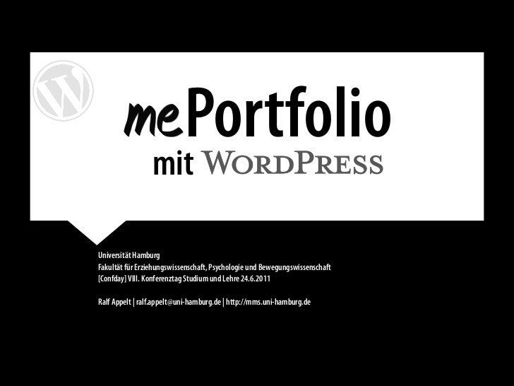 mePortfolios mit WordPress Slide 2