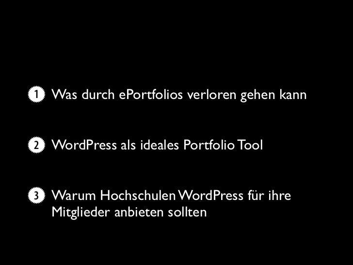 mePortfolios mit WordPress Slide 3