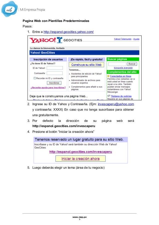 Manual para creación de páginas webs
