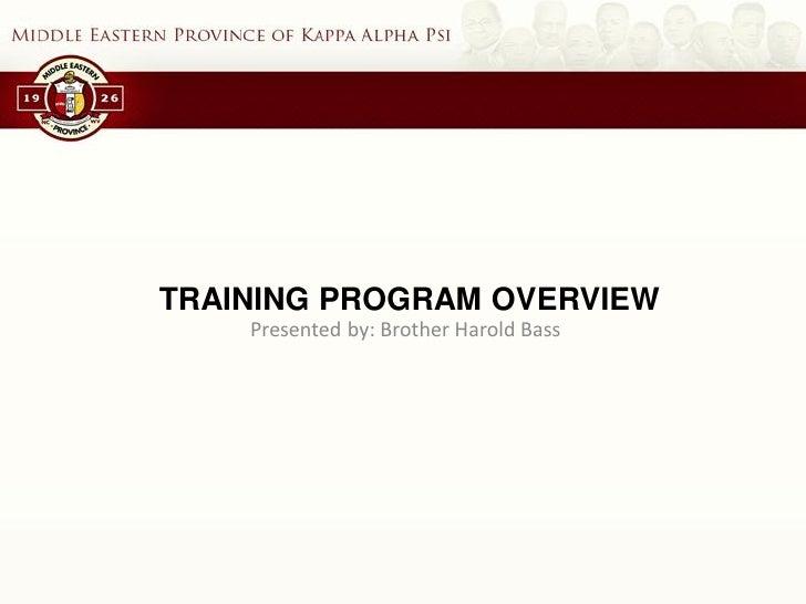 training and development program for bass