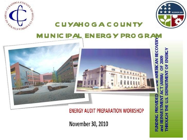 Cuyahoga County Municipal Energy Workshop