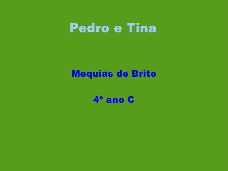 Pedro e Tina Mequias de Brito 4º ano C