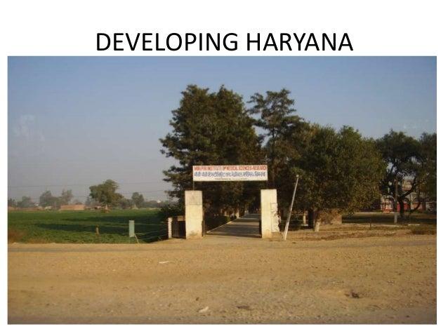 DEVELOPING HARYANA