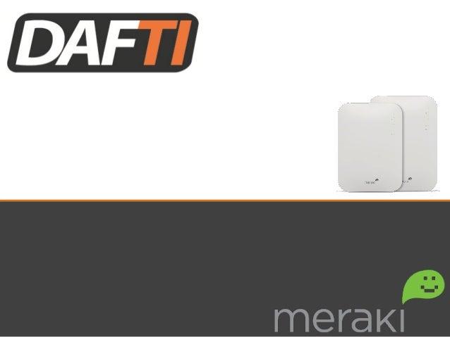 Linha  MR  –  Wireless  de  alto  desempenho  em  nuvem   A  série  Meraki  MR  é  a  primei...