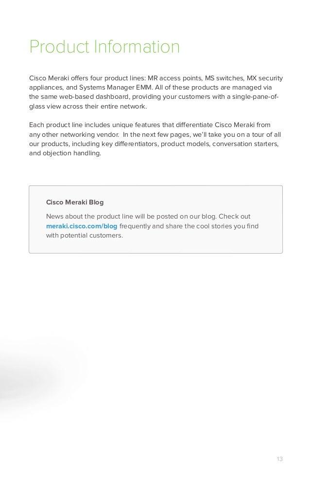 Cisco Meraki Portfolio Guide