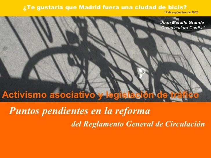¿Te gustaría que Madrid fuera una ciudad de bicis?                                               12 de septiembre de 2012 ...