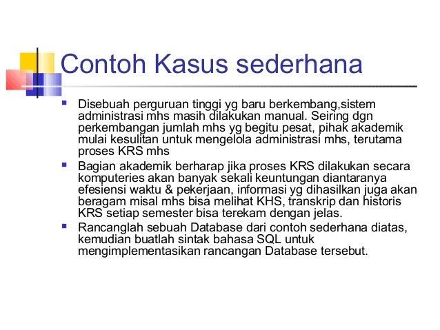 Contoh Erd Khs Mahasiswa Merotoh