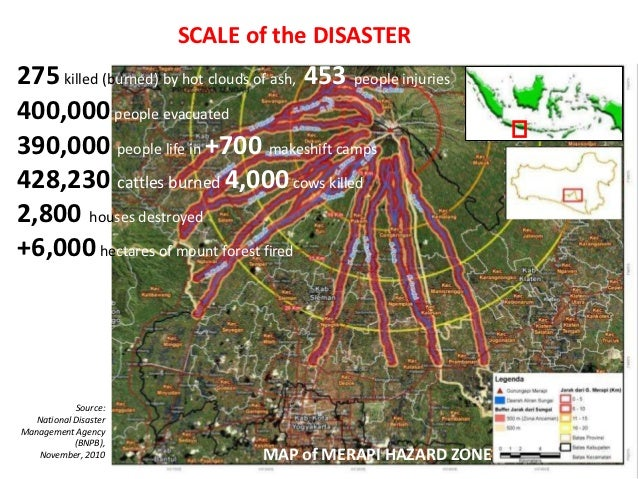 SCALE of the DISASTER275 killed (burned) by hot clouds of ash, 453 people injuries400,000 people evacuated390,000 people l...