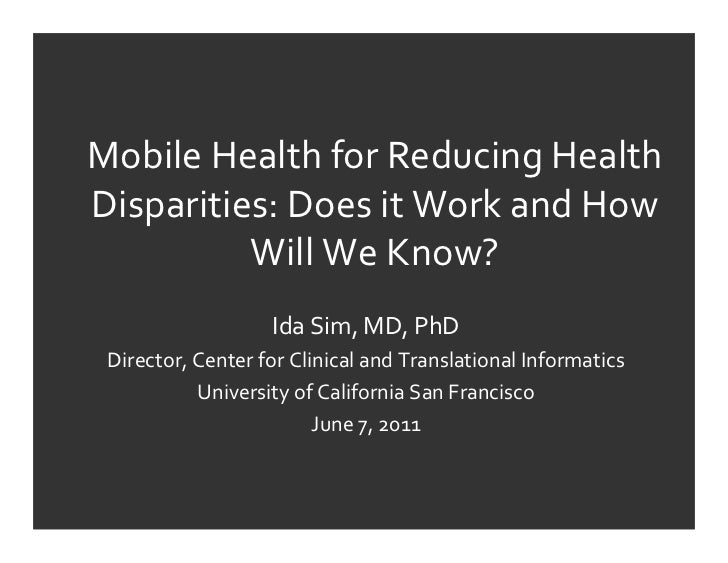 Mobile Health for Reducing HealthDisparities: Does it Work and How            Will We Know?         ...
