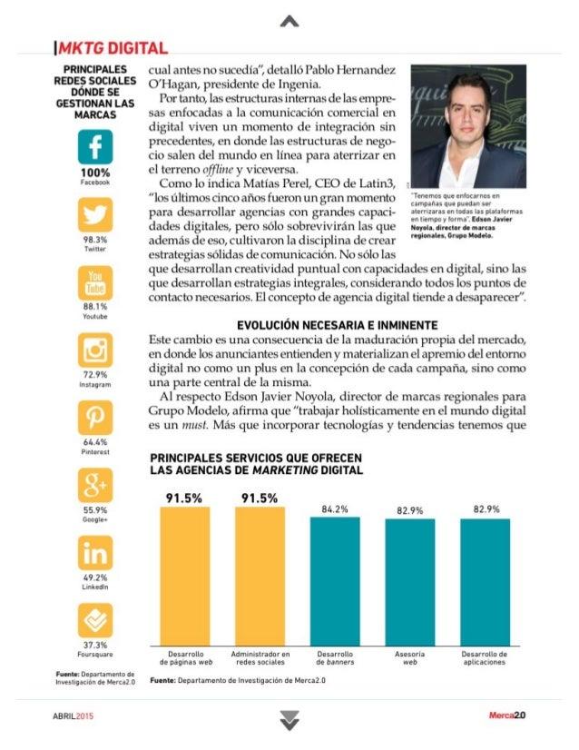 Ranking De Agencias De Marketing Digital México 2015 Slide 3