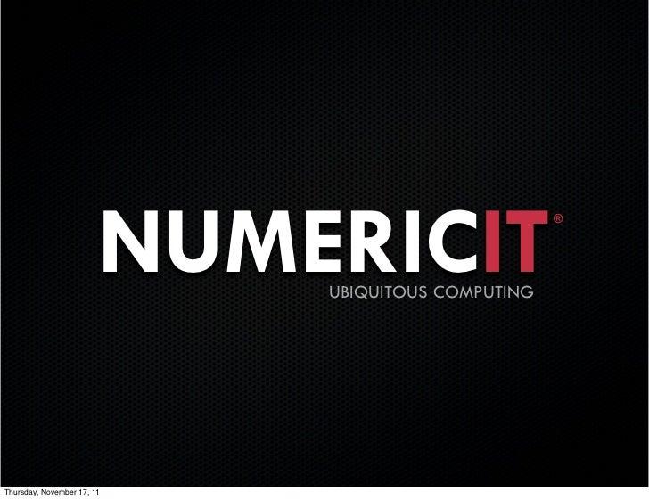 NUMERICIT                                                   ®                            UBIQUITOUS COMPUTINGThursday, Nov...