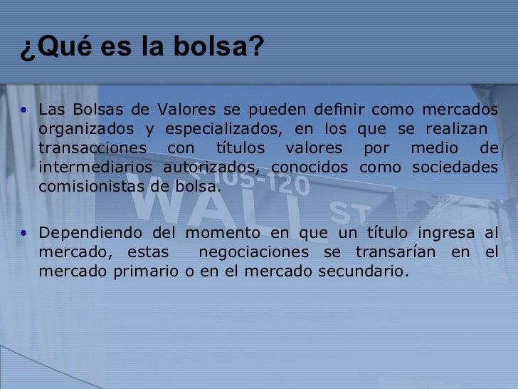 Mercado De Valores (2)