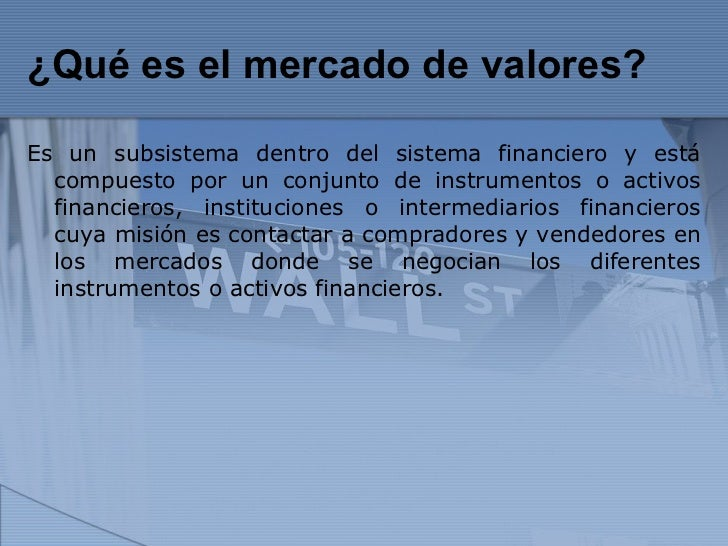 Mercado de valores 2 for Que es mercado exterior