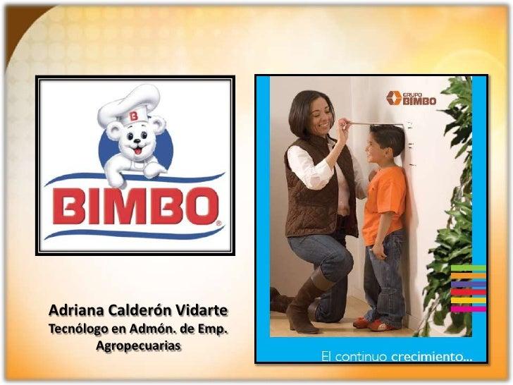 Adriana Calderón Vidarte<br />Tecnólogo en Admón. de Emp. Agropecuarias<br />