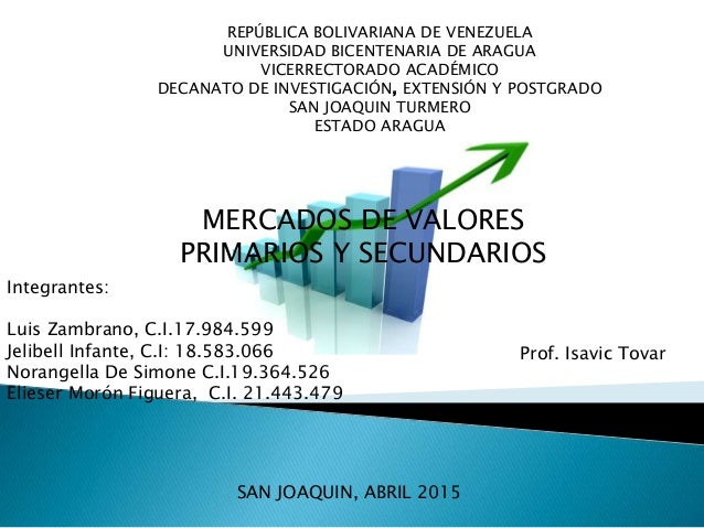 REPÚBLICA BOLIVARIANA DE VENEZUELA UNIVERSIDAD BICENTENARIA DE ARAGUA VICERRECTORADO ACADÉMICO DECANATO DE INVESTIGACIÓN, ...