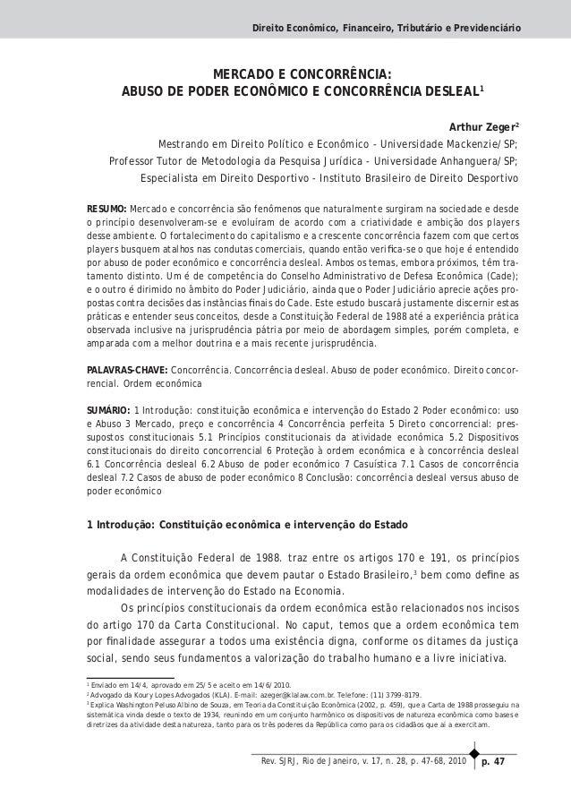 p. 47Rev. SJRJ, Rio de Janeiro, v. 17, n. 28, p. 47-68, 2010 Direito Econômico, Financeiro, Tributário e Previdenciário ME...