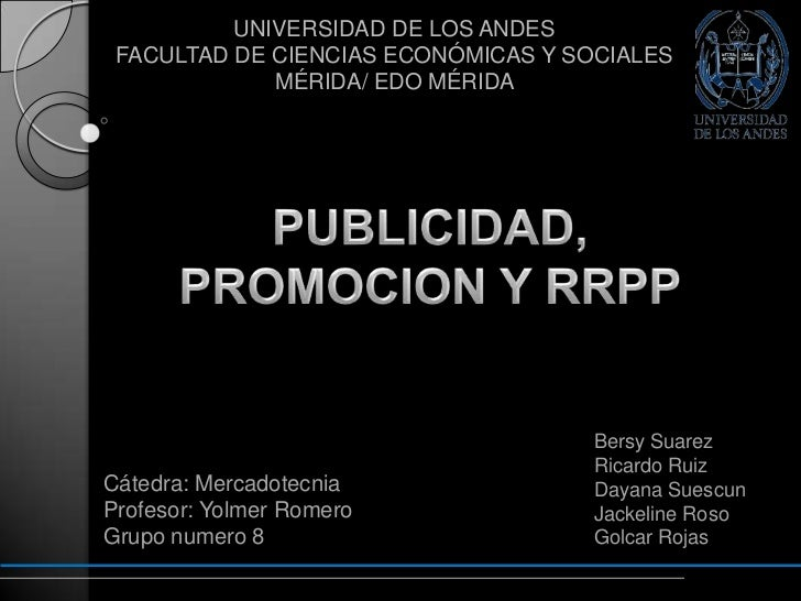 UNIVERSIDAD DE LOS ANDES FACULTAD DE CIENCIAS ECONÓMICAS Y SOCIALES             MÉRIDA/ EDO MÉRIDA                        ...