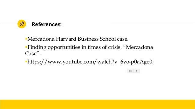 mercadona case analysis Case study: adveo, a challenging brand strategy  today, this offer selection  model, which mercadona follows faithfully has become a.