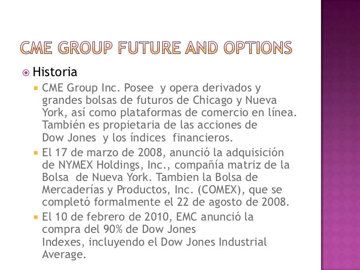 Chicago Mercantile Exchange Inc Opciones binarias