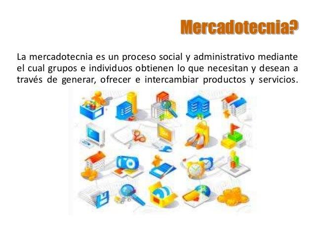 Mercadotecnia? La mercadotecnia es un proceso social y administrativo mediante el cual grupos e individuos obtienen lo que...