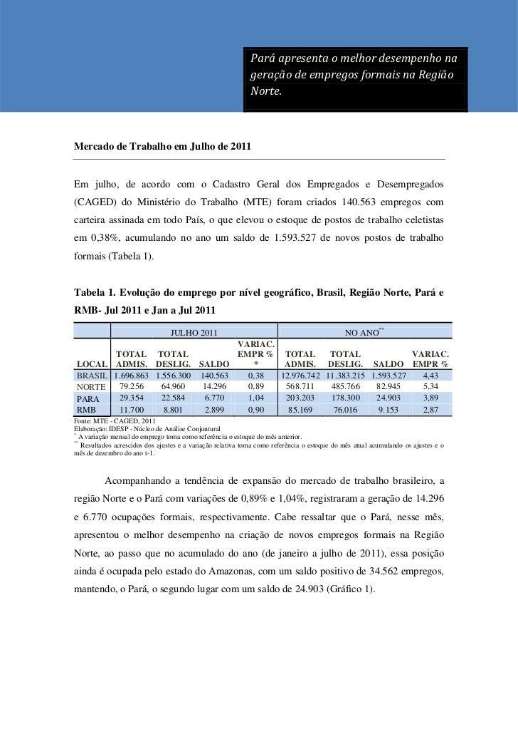 Pará apresenta o melhor desempenho na                                                             Pará apresenta o melhor ...