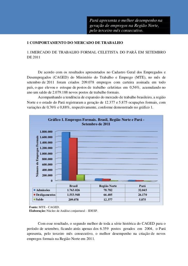 Pará apresenta o melhor desempenho na                                                               geração de empregos na...