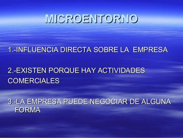 MMIICCRROOEENNTTOORRNNOO  11..--IINNFFLLUUEENNCCIIAA DDIIRREECCTTAA SSOOBBRREE LLAA EEMMPPRREESSAA  22..--EEXXIISSTTEENN P...