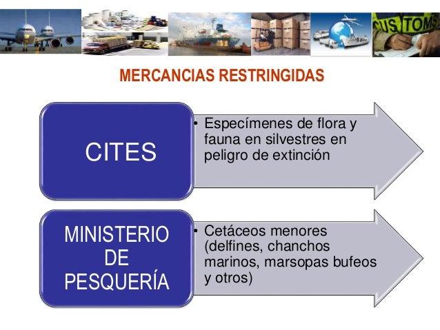 Mercancias restringidas for Ministerio de pesqueria