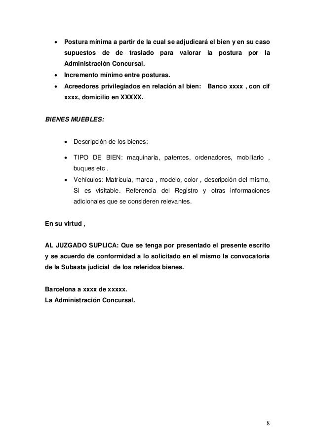 Mercantil subasta judicial electronica - Registro mercantil de bienes muebles ...