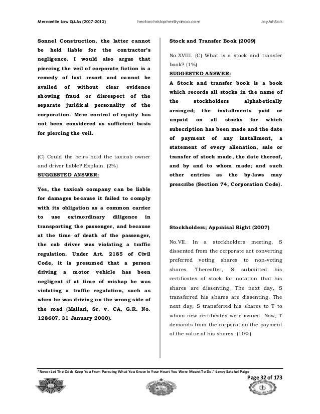 Mercantile Law Book