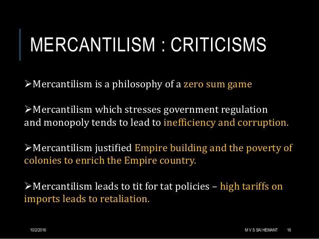 mercantilist philosophy