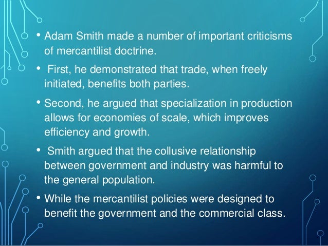 mercantilism and the physiocracy Mercantilism the economic ideas and policies which were followed by european governments from the 15 th century until the second half of the 18 th century may be.