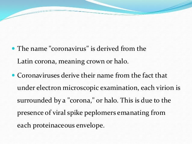 MIDDLE EAST RESPIRATORY SYNDROME CORONA VIRUS (MERS CoV) Slide 3